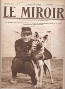GUERRE 1914 LE MIROIR N° 50 8 NOVEMBRE 1914 GEORGES CARPENTIER ET SON CHIEN - War 1914-18