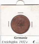 GERMANIA  4  REICHSPFENNIG  1932  LETTERA E  COME DA FOTO - [ 3] 1918-1933 : Repubblica Di Weimar