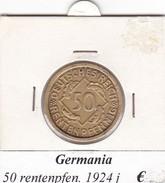 GERMANIA  50 RENTENPFENNIG  1924  LETTERA J  COME DA FOTO - [ 3] 1918-1933 : Repubblica Di Weimar