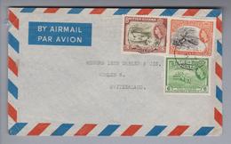 Südamerika British Guiana 1956-06-03 Georgetown Luftpostbrief Nach Wohlen CH - Guyane (1966-...)