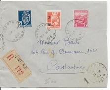 1945 - ALGERIE - ENVELOPPE RECOMMANDEE De ALGER => CONSTANTINE - ARMOIRIES - Algerien (1924-1962)