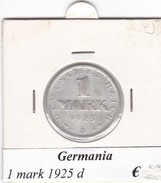 GERMANIA  1 MARK 1925  LETTERA D  COME DA FOTO - [ 3] 1918-1933 : Repubblica Di Weimar