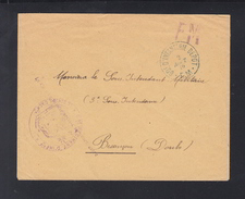 Lettre FM 69 D'Infanterie 1916 - Poststempel (Briefe)