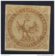 Colonies Générales: Yv Nr 3 ,   MH/*, Avec  Charnière , Mit Falz, Signé - Águila Imperial