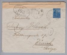 Argentinien 1916-02-16 Tucuman Zensurbrief Nach Zürich - Argentine