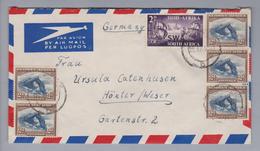 Südwestafrika 1955-09-22 Windhoek Luftpostbrief Nach Höxter DE - Autres