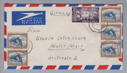 Südwestafrika 1955-09-22 Windhoek Luftpostbrief Nach Höxter DE - Afrique Du Sud (1961-...)