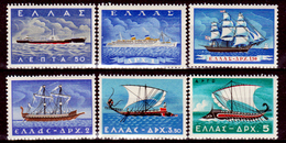 Grecia-F0236 - 1958 - Y&T N. 654-659 (+) Hinged - Senza Difetti Occulti. - Grecia