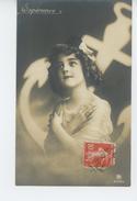 """ENFANTS - LITTLE GIRL - MAEDCHEN - Jolie Carte Fantaisie Portrait Fillette Et Ancre """"ESPERANCE """" - Portraits"""