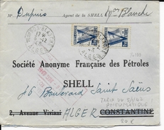 1945 - ALGERIE - UN SEUL BUT LA VICTOIRE - TARIF PNEUMATIQUE - ENVELOPPE De ALGER MAISON BLANCHE => ALGER - Algerien (1924-1962)