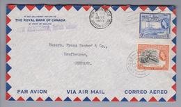 SA British Guiana 1955-12-12 NEw Amsterdam Luftpostbrief Nach Kaufbeuren DE - Guyane (1966-...)