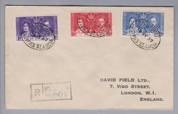 Karibik St.Lucia 1937-05-12 R-Satzbrief Nach London - St.Lucie (1979-...)