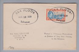 Karibik Bahamas 1939-08-16 Sea Floor Brief - Bahamas (1973-...)