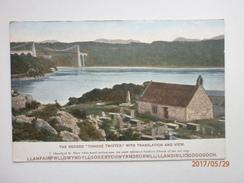 Postcard Anglesey Record Tongue Twister Llanfair PG Menai Strait Britannia Bridge C Pre 1918  My Ref B11213 - Anglesey