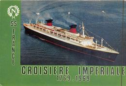 """¤¤  -   Le Paquebot """" FRANCE """"  -  Souvenir De La Croisière Impériale    -  ¤¤ - Dampfer"""