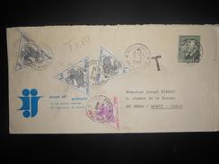 Monaco Taxe , Lettre Taxe A Monte Carlo 1982 - Portomarken