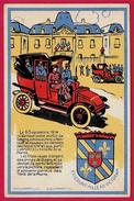 """CPA CPSM AK Commémoration 93 GAGNY """"Départ Des Taxis De La Marne"""" ° Phila 1954 + Cachet De La Mairie Au Dos - Weltkrieg 1914-18"""