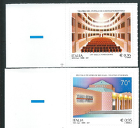 Italia 2017; Teatro Del Popolo Di Castelfiorentino + Piccolo Teatro Di Milano, Serie Completa. Angolo Inferiore Sinistro - 6. 1946-.. Repubblica