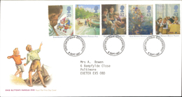09.09.1997 Enid Blyton's Famous Five Royal Mail First Day Cover FDC Exeterdistrict SHS - FDC