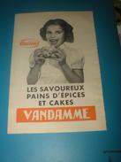 Publicité VANDAMME Les Savoureux Pains D' Épices Et Cakes  UNIMEL 1960 - Publicités