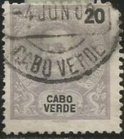 Cape Verde Cabo Verde 1898-1903 King Carlos Name And Value In Black Canc - Celebrità