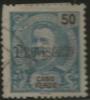 Cape Verde Cabo Verde 1902-1903 King Carlos Overprinted In Black Canc - Celebrità