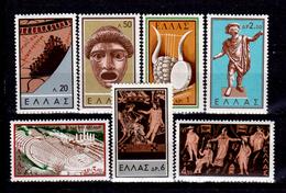 Grecia-F0244 - 1959 - Y&T N. 685-691 (+) Hinged - Senza Difetti Occulti. - Grecia