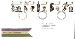 06.08.1996 20th Century Women Of Achievement Portraits Of Genius Royal Mail First Day Cover FDC Exeter District SHS - FDC