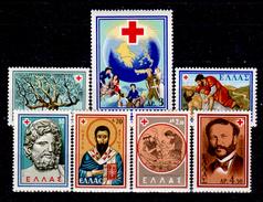 Grecia-F0245 - 1959 - Y&T N. 693-699 (+) Hinged - Senza Difetti Occulti. - Grecia