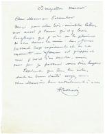 Lettre Autographe. Henri Cassiers. Affichiste - Peintre. Anvers 1858/Ixelles 1944. - Autographs