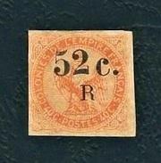 COLONIE FRANCESI 1859 - Aquila Imperiale 40 C. Arancio Con Errore (soprastampa 52 C. R) - MNG - Yt:FR-COL 5 - Aquila Imperiale