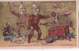 Chromo 1900 Chocolat Guérin Boutron : 2 Scaphandres Se Mirent à La Recherche ( Scaphandriers) - Guerin Boutron