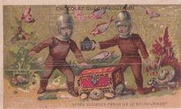 Chromo 1900 Chocolat Guérin Boutron : Scaphandres Ils Le Découvrirent( Scaphandriers) - Guérin-Boutron