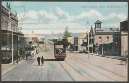 West Street From Beach Road, Durban, Natal, South Africa, 1910 - GSJ Postcard - South Africa