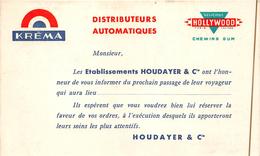 "¤¤  -  METTRAY   - Carte Publicitaire Des Etablissement "" HOUDAYER & Cie ""   -  Confiserie , Kréma , Hollywood -  ¤¤ - Mettray"