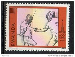 Rwanda 1980 - Olimpiadi Mosca Olympic Games Moscow Scherma Fencing MNH ** - Rwanda