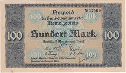 * MEMEL 100 MARK 1922 P-9a AUNC  [MEM109a] - Banknotes