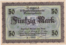 * MEMEL 50 MARK 1922 P-7a AUNC  [MEM107a] - Bankbiljetten