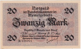 * MEMEL 20 MARK 1922 P-6a AUNC  [MEM106a] - Banknotes