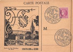 ¤¤  -  CHATILLON-sur-SEINE   -  Carte Editée Pour La Journée Du Timbre   -  ¤¤ - Chatillon Sur Seine