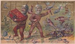 Chromo 1900 Chocolat Guérin Boutron : Scaphandres Livrent Bataille Pour Le Trésor( Scaphandriers) - Guérin-Boutron