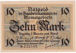 * MEMEL 10 MARK 1922 P-5b AUNC  [MEM105b] - Banknotes