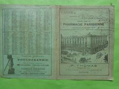 Couverture Seule De Cahier -pub Pharmacie Parisienne -thomas A Toulouse Appartenant A Rene Gadave - Book Covers