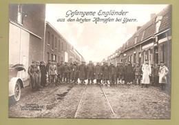Fotokaart Carte Photo 171mm X 121mm 1914 1918 Ieper - Gefangene Englander Aus Den Letzten Kampfen Bei Ypern - War 1914-18
