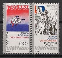 Vietnam - 1989 - N°Yv. 987 à 988 - Révolution Française - Neuf Luxe ** / MNH / Postfrisch - Vietnam