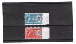 EDY 183 - CAYMAN  , Due Valori ***  CONSTITUTION 1959 - Cayman (Isole)