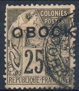 Obock 1892 N. 17 C. 25 Nero Su Rosa Usato Cat. € 35 - Obock (1892-1899)