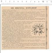 Article De 1903 Nouvel Explosif De Lucciani évocation Du Fusil Lebel Et Du Canon De Bange Thème Poudre Armement 198PF-31 - Vieux Papiers
