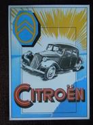 Extrait Du Dépliant Publicitaire De L ' Automobile Française , La Citroën Traction , Série 2 , Publicité , Pub - Voitures De Tourisme