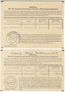 D206 Bund BRD 1959 2 Mitteilungen Rentenanpassung Postsendung Portofrei Mit Tagesstempel Postamt Hadamar - BRD